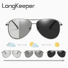 LongKeeper Men Photochromic Sunglasses Polarized Sun Glasses Women Classic Brand Driving Goggles For Male Oculos de sol UV400