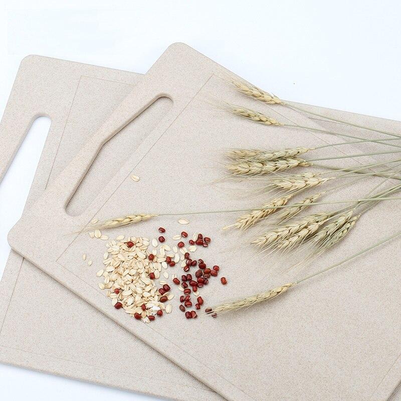 1 PCS Fruit Chopping Board Chopping Block Wheat Cutting Board Cutting Board Antibiotic Kitchen Utensils
