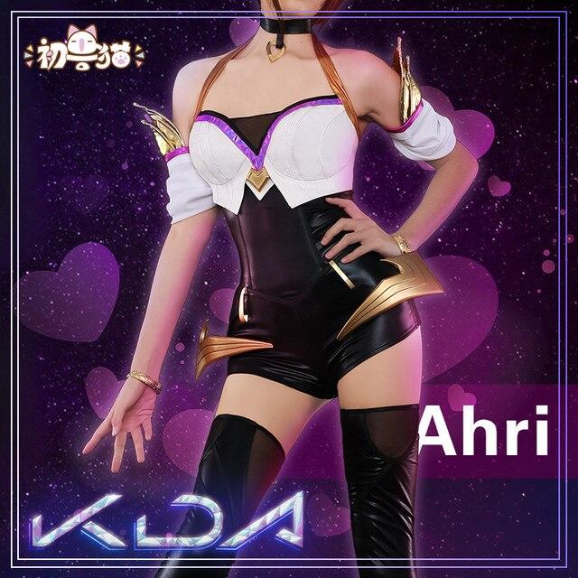 2019 Hot New!!LOL Idol singer new skin KDA Nine-Tailed Fox Ahri Akali Evelyn Kai'Sa cosplay costume New dress 1