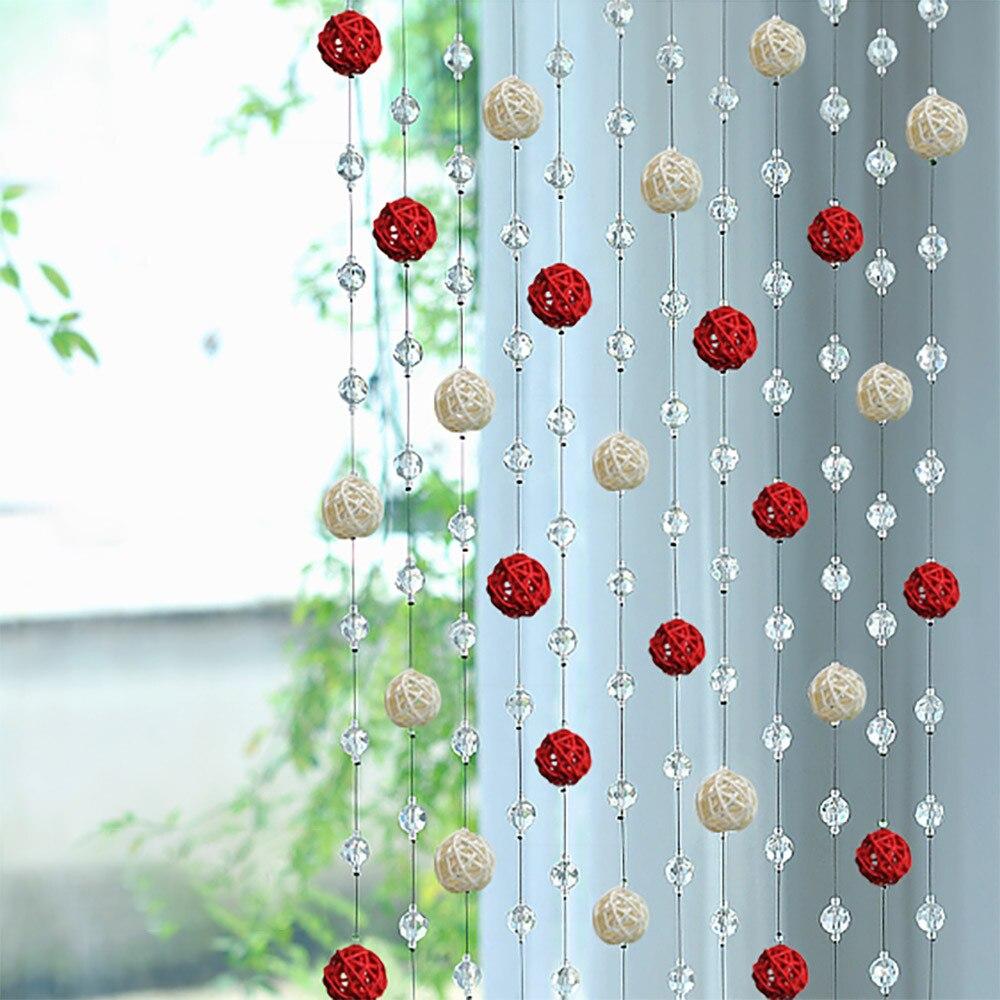 Curtain Crystal Glass Sepak Takraw Curtain Living Room Bedroom Window Door Decor 1M Fashion Hot Drop shipping Aug15