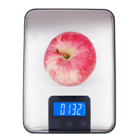 15kg 1g LCD Display Digital Kitchen Scale Big Food Diet Weight Slim Stainless Steel Electronic Scale