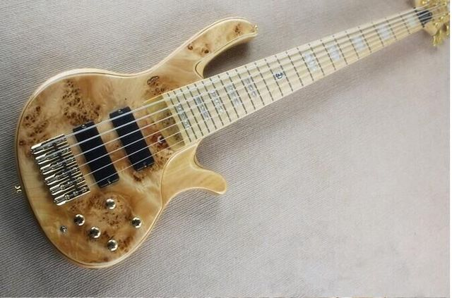 Cheap Free shipping  6 strings electric bass guitar  active pickups /electric bass guitar/gold hardware