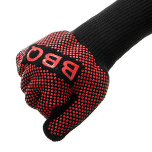 Image 5 - Перчатки для барбекю, термостойкие силиконовые варежки для гриля и выпечки, с изоляцией, аксессуары для барбекю