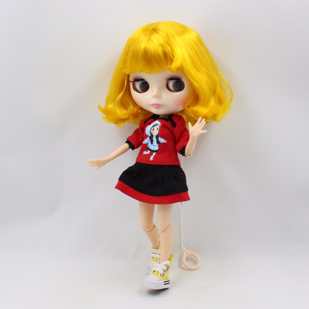 fortune days factory blyth doll white skin face short yellow hair joint body 1/6 30cm 150BL3038 yellow days montreal
