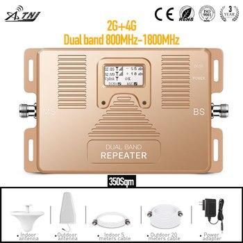 AMPLIFICADOR DE señal móvil de banda Dual 2G 4G, 800/1800MHz, repetidor de señal para el hogar y la Oficina con amplificador de señal de área grande