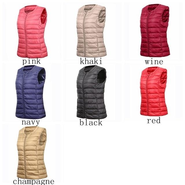 NewBang Brand 6XL 7XL Large Size Waistcoat Women's Warm Vest Ultra Light Down Vest Women Portable Sleeveless Winter Warm Liner 4