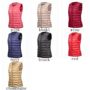 Image 4 - NewBang marka 6XL 7XL büyük boy yelek kadın sıcak yelek Ultra hafif aşağı yelek kadınlar taşınabilir kolsuz kış sıcak astar