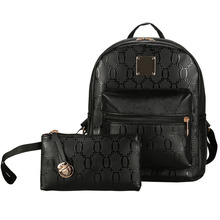 Новинка 2 шт. Дамские туфли из PU искусственной кожи рюкзак регулируемые Повседневная для девочек школьная сумка композитный сумки Высокое качество