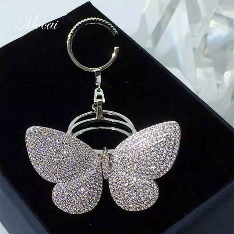 Brand Design Exaggerated Luxury AAA Cubic Zirconia Big Butterfly Rings For Women Gold Plated Shiny Party