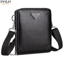 Викуньи поло Элитный бренд сумки кожаные Для мужчин одного плеча мешок двойной карман Для мужчин сумки Для мужчин Повседневное Crossbody сумка для мужчин