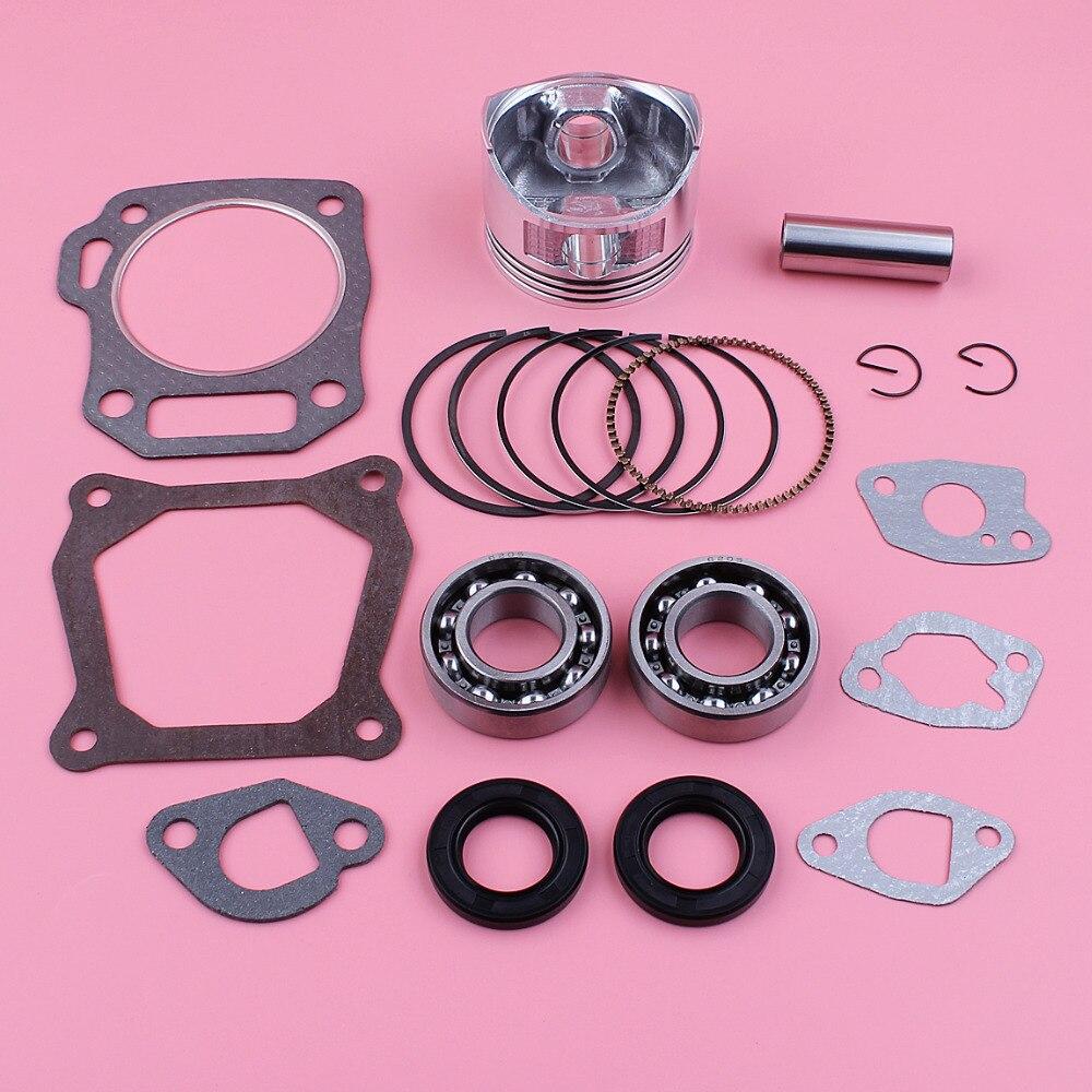 Tools : 68mm Piston Ring Crank Bearing Oil Seal Gasket Kit For Honda GX160 5 5HP GX 160 168F 4 Stroke Engine Motor Parts