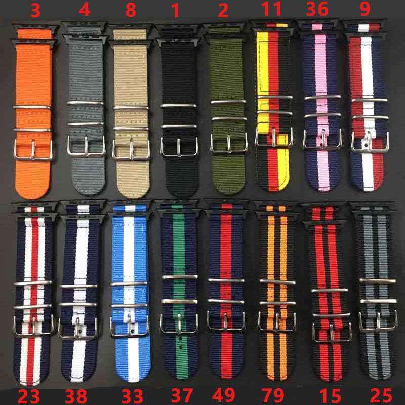 2018 Hot sale Nylon strap for Apple Watch Band Series 3/2/1 sport leather bracelet 42mm 38mm strap for iwatch band цена и фото