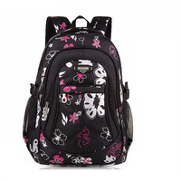 Large Size Floral Printing Children Backpack Girls Mochila Children School Bags For Teenager Girls Book Bags Kids Schoolbag Kids & Baby Bags