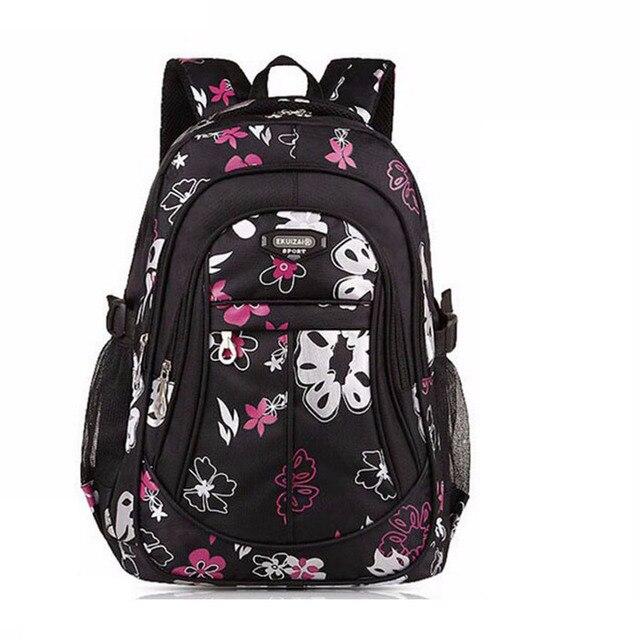 ZIRANYU Large Size Floral Printing Backpack Mochila