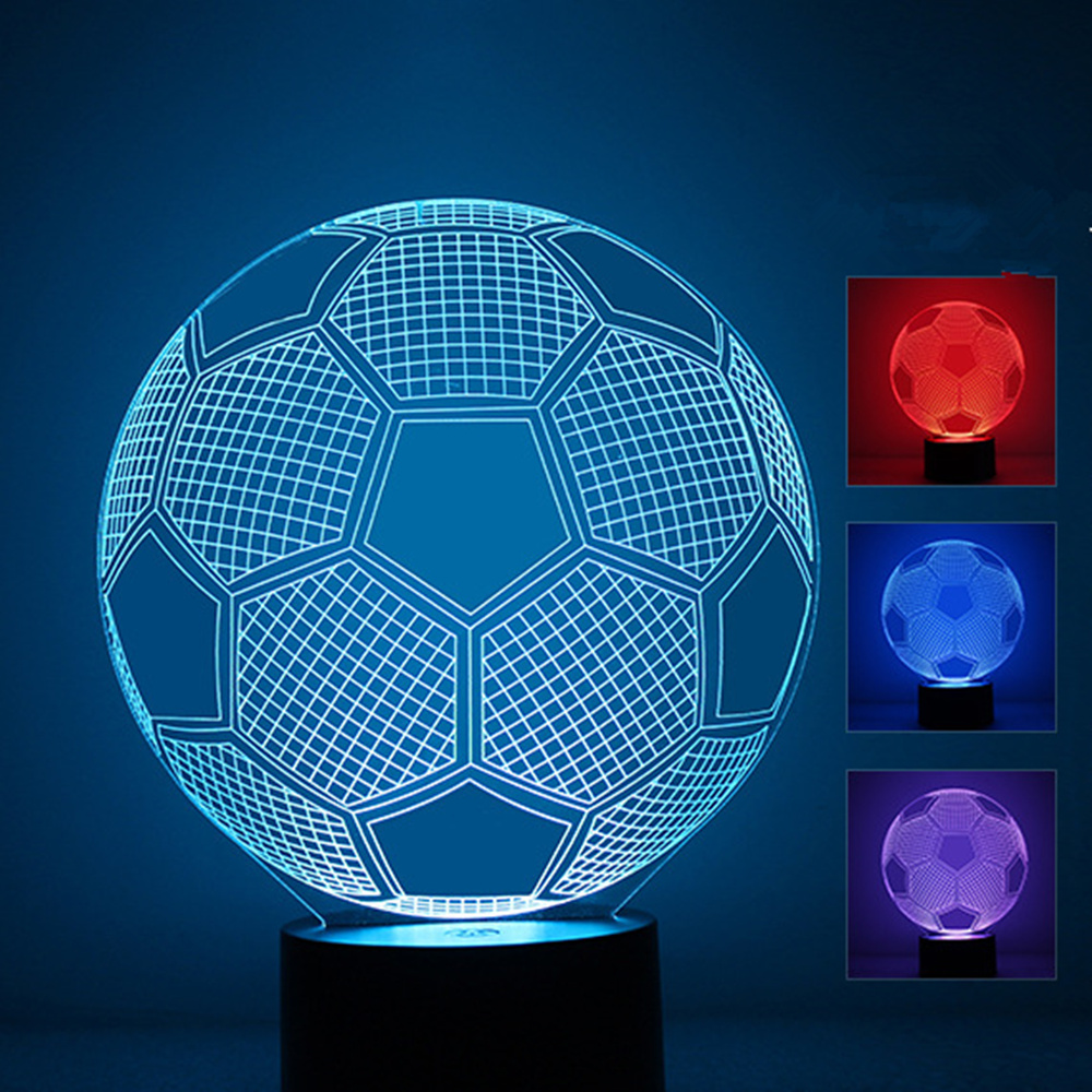 2018 font b Football b font Light Soccer Ball Remote Control Desk Table Light 7 Color