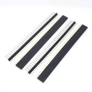 Image 2 - Бесплатная доставка, 1 партия = 10 шт., 1x40 контактов, 2,54 мм, Однорядный женский + 10 шт., 1x40 штырьковый разъем