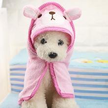 Мягкая шляпа для собак, кошек, халат с изображением животных, банное полотенце для щенков, душ, моющиеся принадлежности для собак, шапочка для домашних животных, одежда для средних и маленьких собак S/M/L