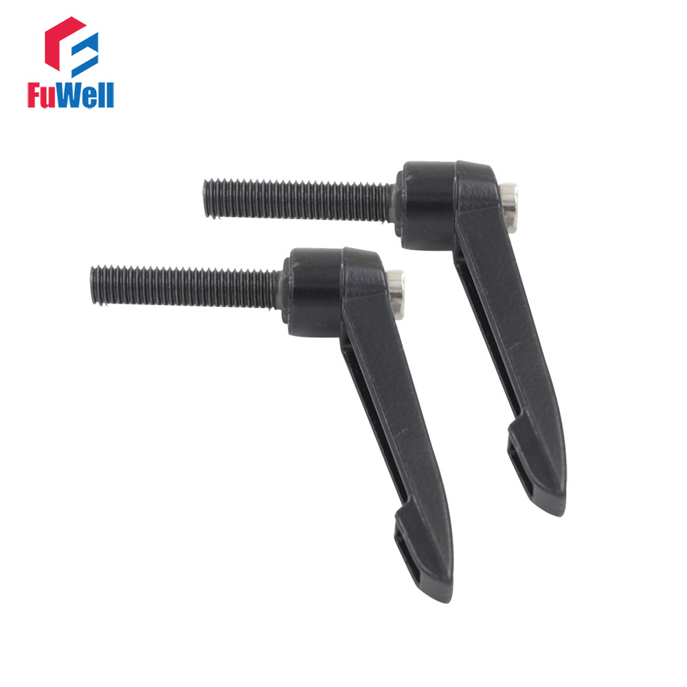 2pcs M10 Male Thread Adjustable Clamping Handles Knob 20/25/30/40/45/50/60/70mm Thread Length 10mm Thread Dia. Adjustable Handle cinelli ram 2 carbon fiber road bicycle handlebar with stem integrative speedometer stents bike stopwatch computer holder 28 6mm