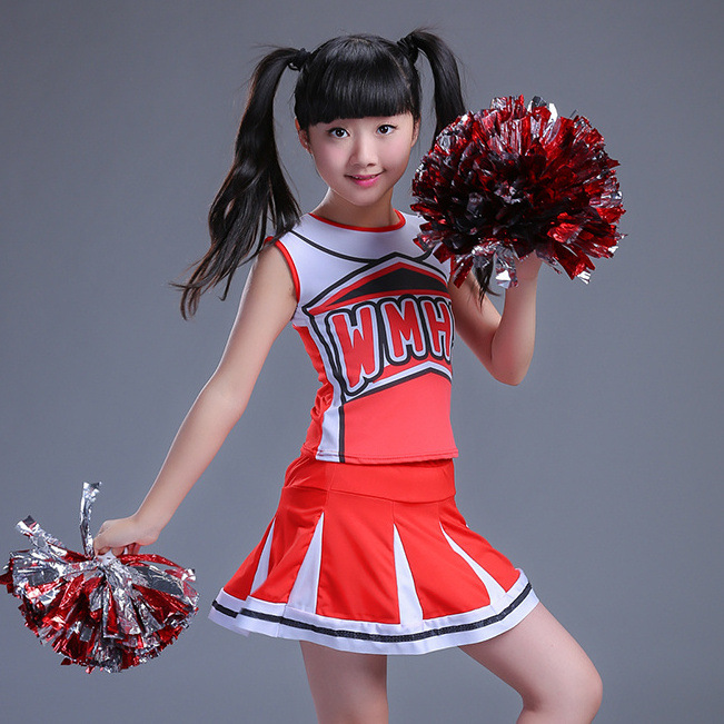 Children's Performance Cheerleading Dancing Costume Men's Cheerleader Clothing Girls Dance Uniforms Gymnastic Clothes School Gym