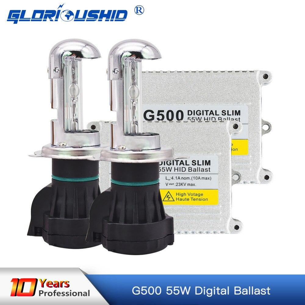 Xenon h4 bi xenon hid kit AC 12V 55W H4 Bixenon lamp Hi/lo beam bulb HID Ballast 4300k 5000k 6000k 8000k kit xenon h4 bixenon