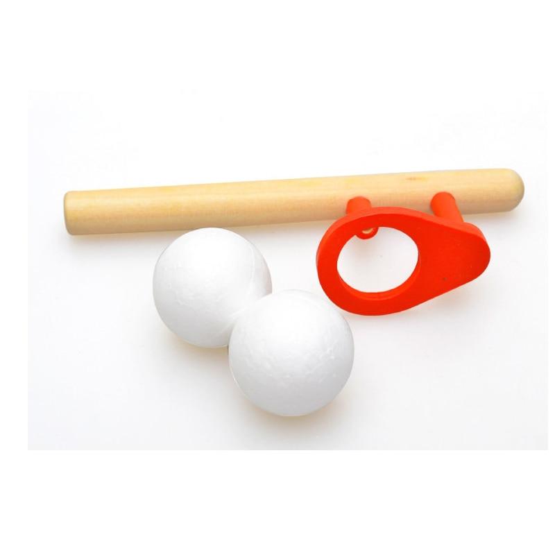 NOVA bola de Sopro Passatempos jogo clássico divertido puzzle de madeira da primeira infância das crianças esportes dos miúdos brinquedos para as crianças crianças hobbies