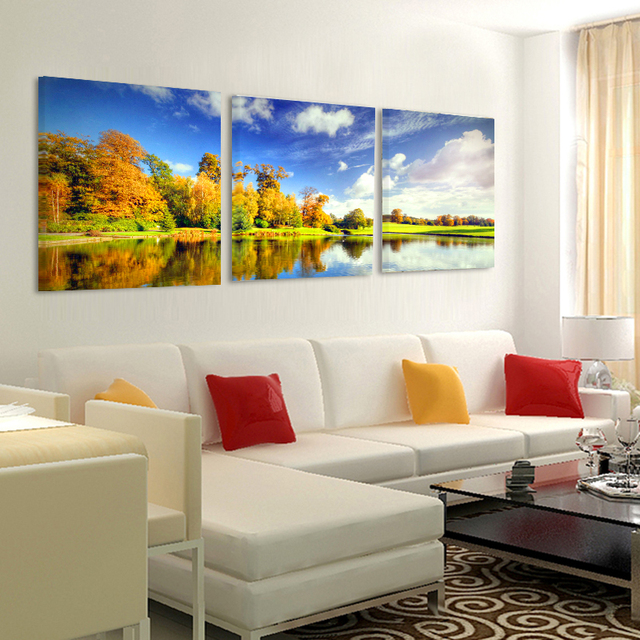 Amazing Canvas Painting Pictures Modular Decorative Painting On The Wall Living  Room Art Sofa Backdrop Modern Part 8