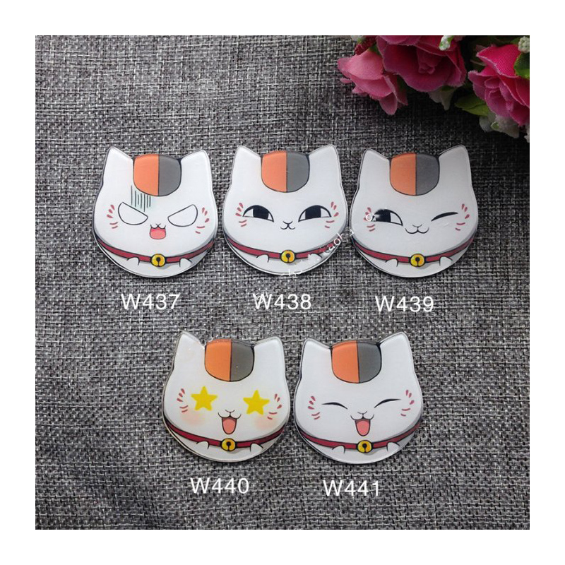 5pcs/set Anime Natsume Yuujinchou Nyanko Sensei Lucky Cat Animal Version Cute Badge Acrylic Pin Badge Brooch Anime Badge