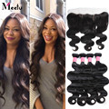 """13""""x4"""" Brazilian Body Wave Lace Frontal Closure with Bundles Brazilian Lace Frontal with Bundles Ear to Ear Lace Frontal Weave"""