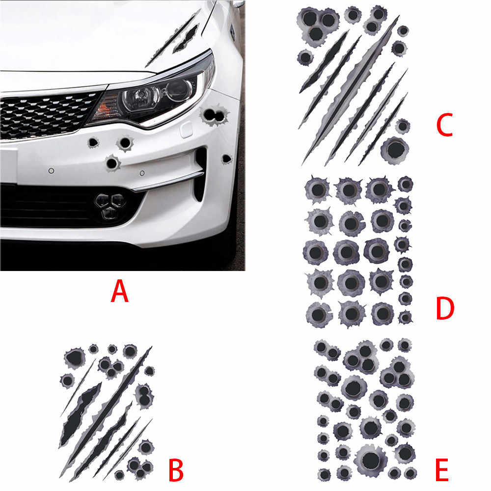1pcs Reflective Creative Conversion Sticker Body Cover Scratches Cover Bullet Holes 28X20cm Whosale Drop Shipping