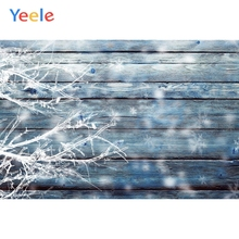 Yeele Merry Christmas Party Winter Tree Ice Wood Board Baby Photo Background Custom Vinyl Photography Backdrop For Studio