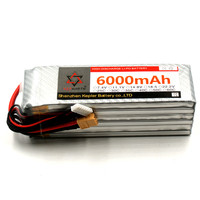 RC Lipo Battery 6S 22.2V 6000mAh 25C 35C 60C Li Polymer Battery For RC Car Plane Boat Helicopter Truck Tank