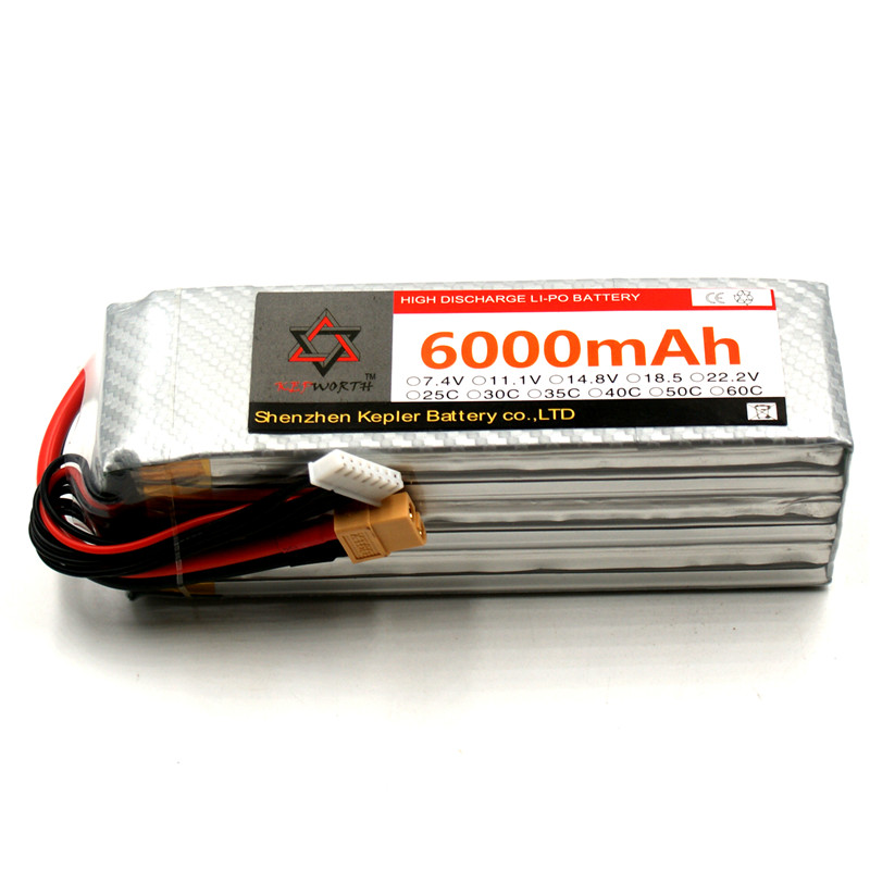 RC <font><b>Lipo</b></font> Battery <font><b>6S</b></font> 22.2V <font><b>6000mAh</b></font> 25C 35C 60C Li-Polymer Battery For RC Car Plane Boat Helicopter Truck Tank image