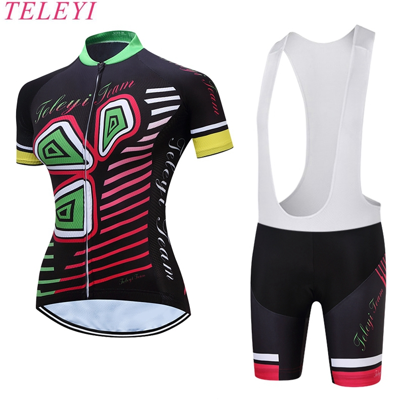 Newest! Summer Women Cycling Jersey Shorts Set Sleeve Short Sleeve Girl Bike Clothing Bike Cycling Cycle Cloth Rose-red  XS-4XL