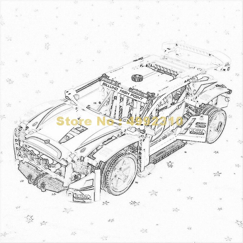 1085pcs 2in1 technic the rally racing car building block  42077 Bricks Toy Christmas Shop 2019