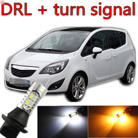 Free Shipping For Opel Meriva 2003 2015 Accessories LED Daytime Running Light Front Turn Signals All