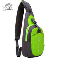 TANLUHU Men Women Nylon Sling Chest Back Travel Climb Cross Body Messenger Shoulder Pack Chest Bags