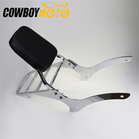 Motorcycle Backrest Sissy Bar Rear Luggage Rack Support Saddlebag Box Holder Cargo Shelf For Yamaha V Star XVS 1100 Classic