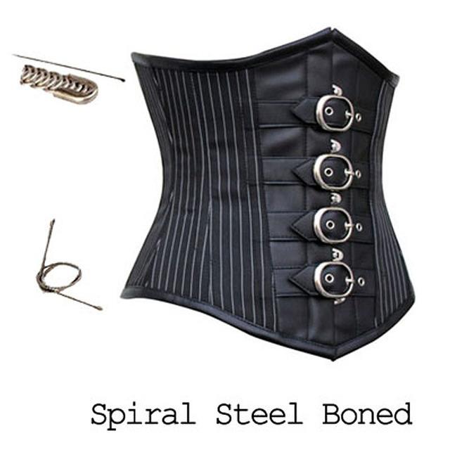 2016 nueva Steampunk corsé abdomen corsé delgado de acero fino etapa Cosplay