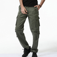 2018 New Fashion Men Cargo Pants Army Green Tooling Military Pants Homme Casual Loose Trousers Tactical