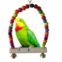 Adeeing деревянная птица попугай качели игрушки жевательные игрушки для попугая Cockatiel Lovebird