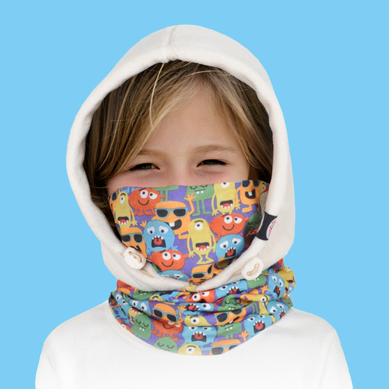 AONIJIE Versatile Children Polyester Fleece Beanies Kids Skullies Balaclavas Outdoors Skiing Cycling Winter Hats Caps Face Mask
