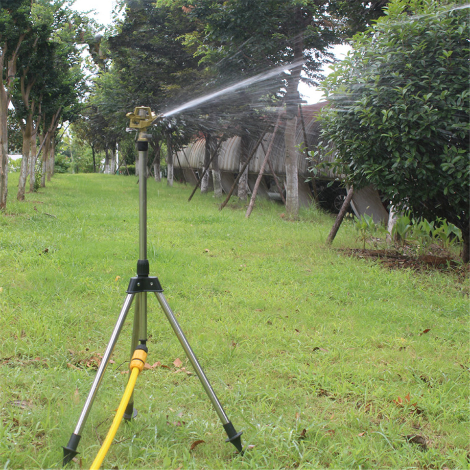 Garden Water Pulsator Sprinkler Lawn Watering Tripod Stand New Free Shipping