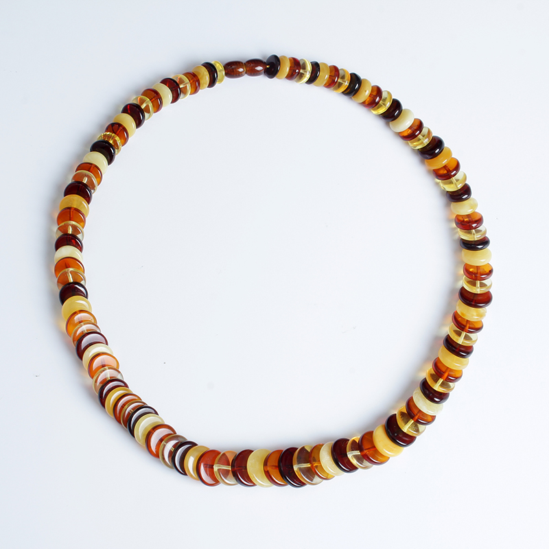 Authentic Baltic Sea Natural Amber Necklace Boulder Necklace Multi Necklace Origin Europe Multicolor Mixing in Necklaces from Jewelry Accessories