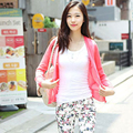 Spring and Autumn new Korean wild loose candy-colored long-sleeved V-neck cardigan sweater knitted shawl women