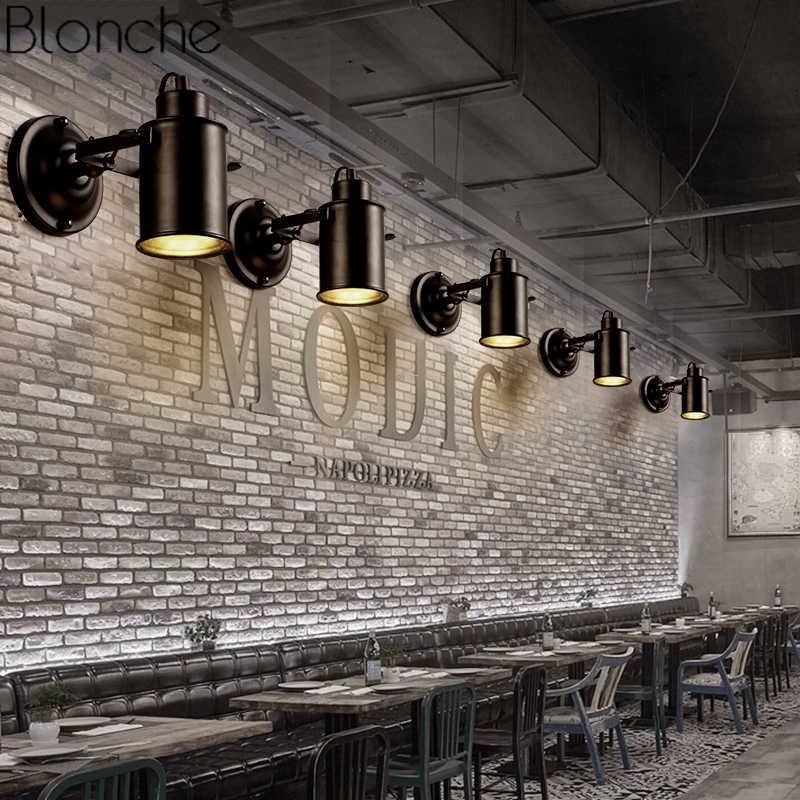 Промышленные светодиодные Настенные светильники для дома Лофт Декор винтажные настенные бра светильник спальня лампа ретро освещение железный светильник E27