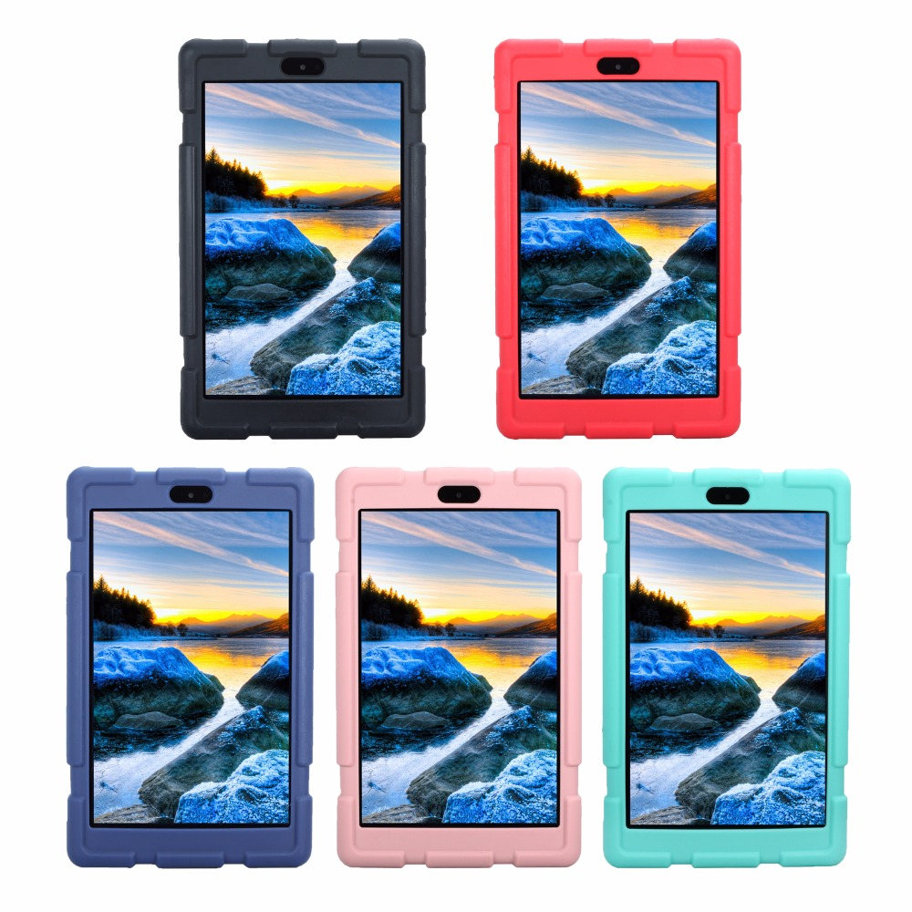 Shockproof Silicon Case for Amazon Kindle Fire HD 8 2017 Tablet Protective Case Cover For Kindle Fire HD 8 inch 2017 Funda Cases for amazon kindle fire hd 8 hd8 2016 8 0 inch tablet shockproof case for amazon fire hd8 2016 kids baby safe back cover fundas