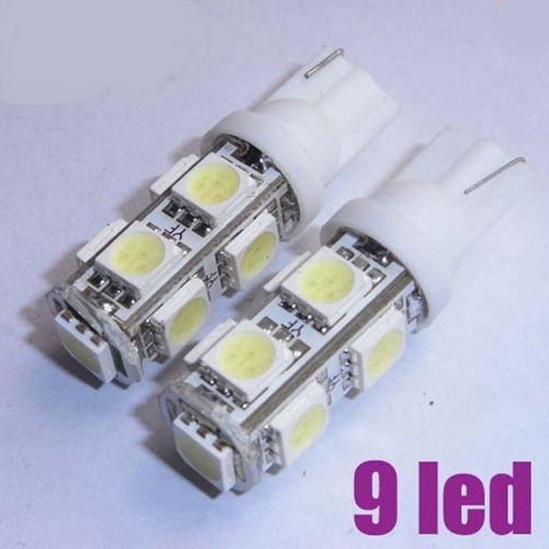 T10 9led smd 5050 Car 194 168 192 W5w Led Light Automobile Bulbs Lamp externa clearance bulb door reading lamp turn signal 100pcs lot t10 9smd 5050 9 smd 9led car 194 168 192 led t10 w5w led white 9 led light automobile bulbs lamp wedge interior light