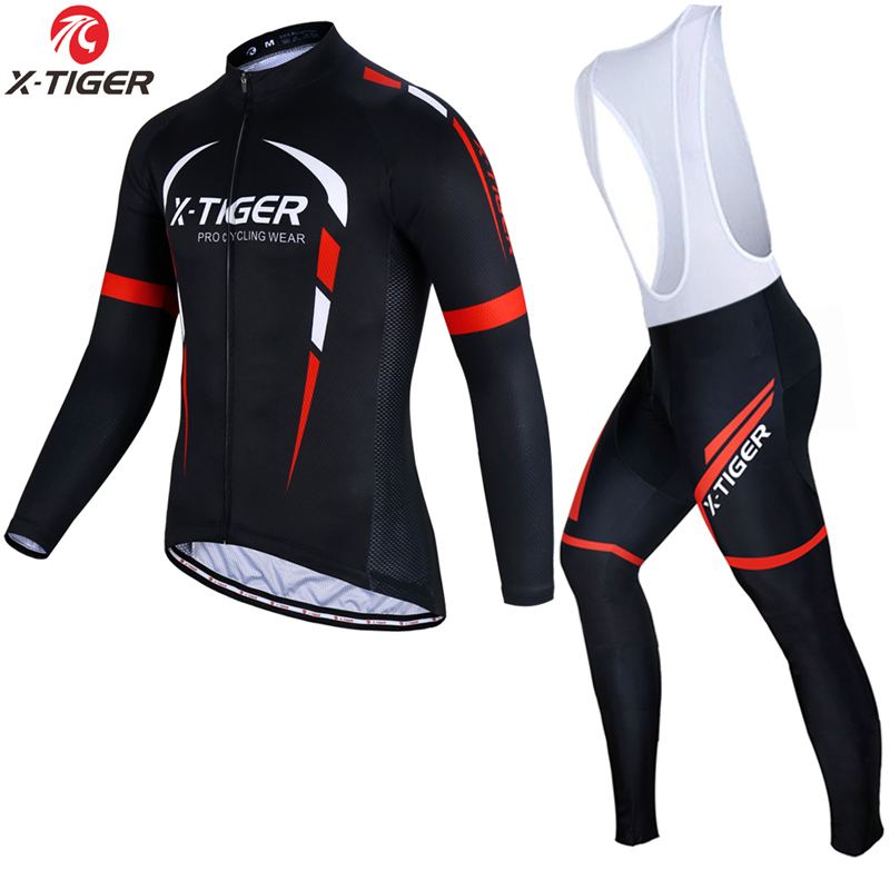 X Tiger Long Sleeve Cycling Jerseys Set Spring MTB Bicycle Clothes Ropa Maillot Ciclismo Bike Wear