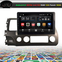 10.2 inch Car Video Audio Player for HONDA CIVIC 2006 2009 with GPS Navigation Bluetooth Wifi (NO DVD)