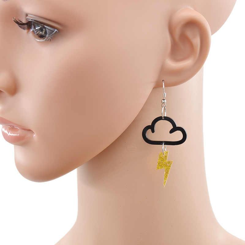 แฟชั่นลิ้นจี่ใหม่อะคริลิคน่ารัก Cloud Lightning ต่างหู Charm DROP Dangle ผู้หญิงแฟชั่นเครื่องประดับ